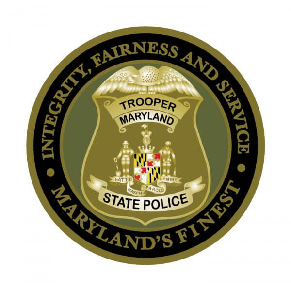 Maryland State Police Coin Back