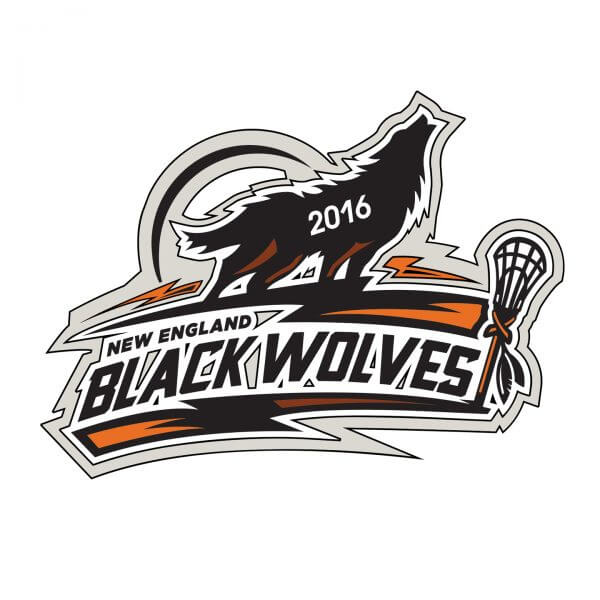 NE Black Wolves Pin