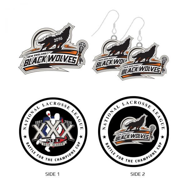 New England Black Wolves Collector Set