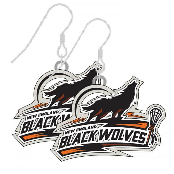New England Black Wolves Earrings