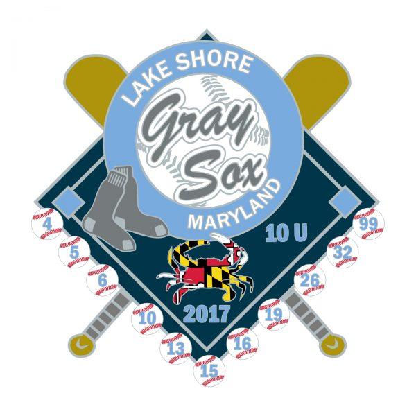 Lake Shore Gray Sox Custom Pin