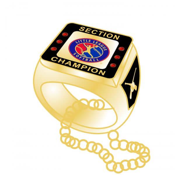 Little League Softball 3D Ring