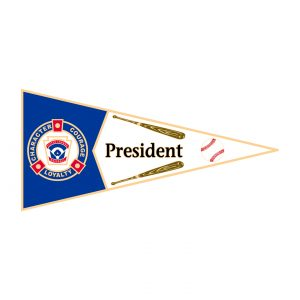 Little League Pennant Pin President