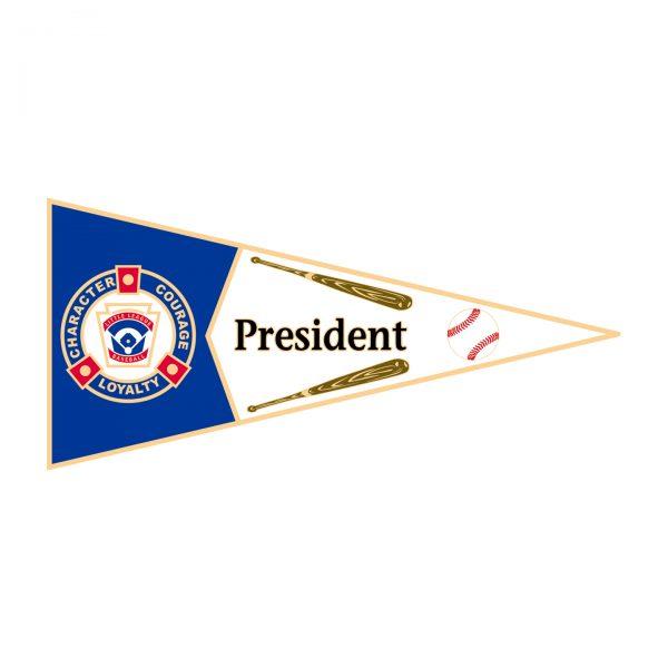 Little League Pennant Pin President