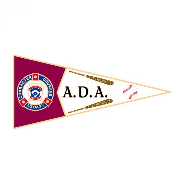 Little League Pennant Pin ADA
