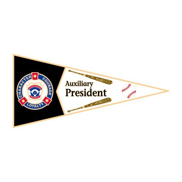 Little League Pennant Pin Auxilary President