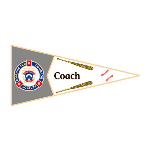 Little League Pennant Pin Coach