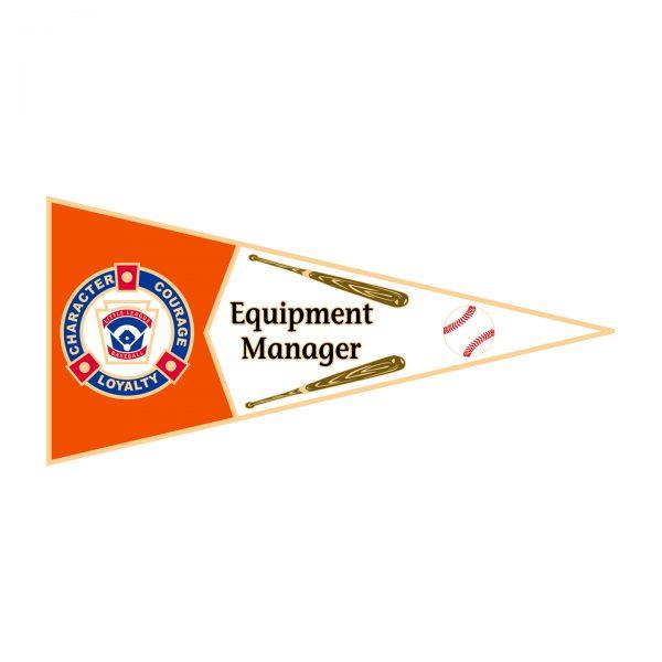 Little League Pennant Pin Equipment Manager
