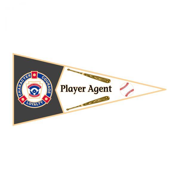 Little League Pennant Pin Player Agent