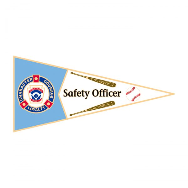 Little League Pennant Pin Safety Officer
