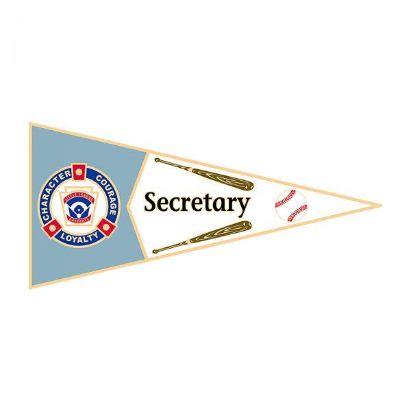 Little League Pennant Pin Secretary