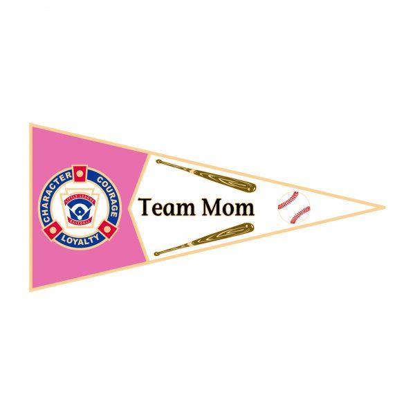 Little League Pennant Pin Team Mom