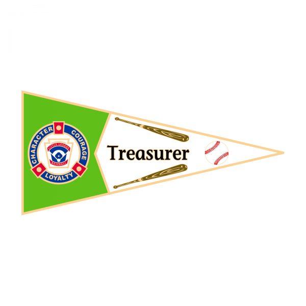 Little League Pennant Pin Treasurer