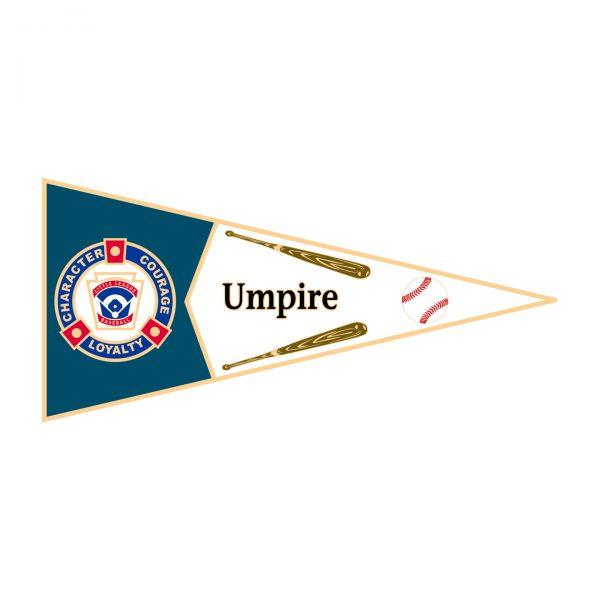 Little League Pennant Pin Umpire