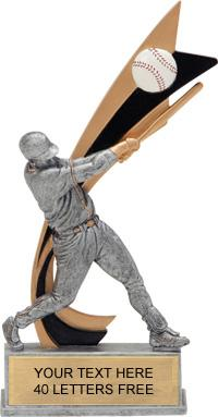 Baseball Painted Banner Resin Trophy