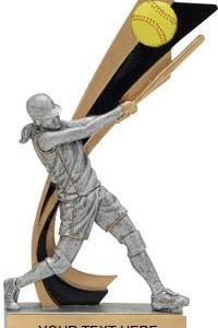 Softball Painted Banner Resin Trophy