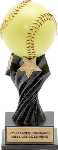 Softball Twister Resin Trophy