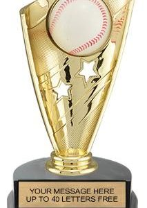 Baseball Banner Trophy w/3D Sport Ball