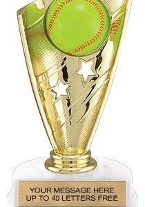 Softball Banner Trophy w/3D Sport Ball