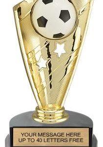 Soccer Banner Trophy w/3D Sport Ball