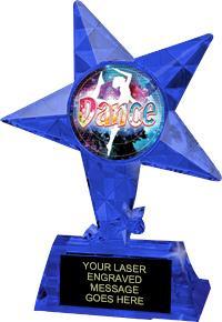 Exclusive Krystal Ice Sapphire Trophy
