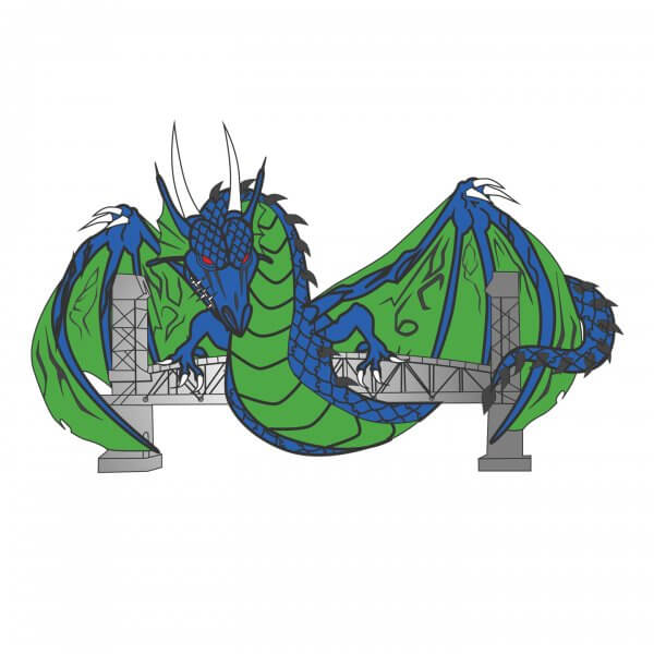Dragon Pin Sample Design