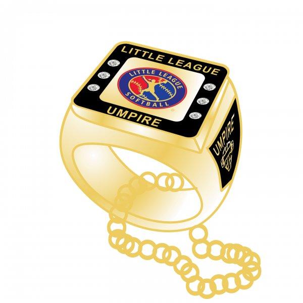 Little League Softball Umpire Charm Necklace