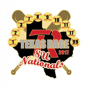 Texas Rage 8 U Nationals Pin