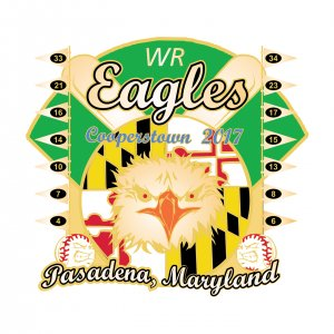 WR Eagles Pasadena Maryland Pin