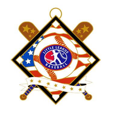 """Baseball Red White Blue 2.5"""" Medal"""