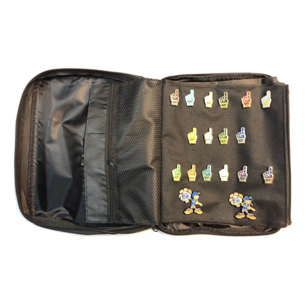 Black Pin Bag Showing Page With Pins