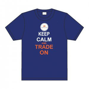 Infiniti pins blue t-shirt. Keep Calm and Trade on
