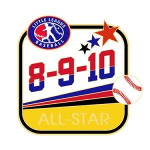 Baseball 8-9-10 All-Star Pin