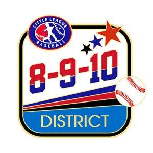 Baseball 8-9-10 District Pin