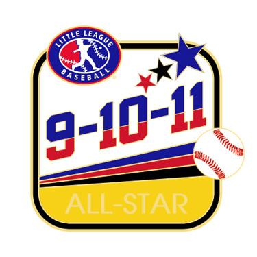 Baseball 9-10-11 All-Star Pin