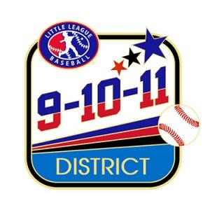 Baseball 9-10-11 District Pin