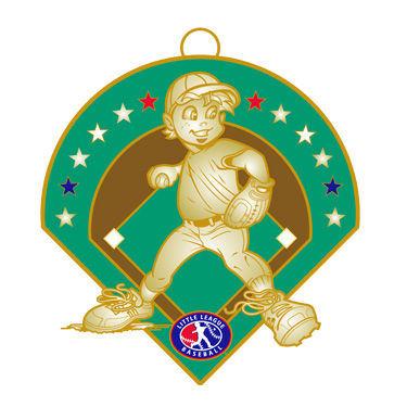 "Boy Baseball 2.5"" Medal"