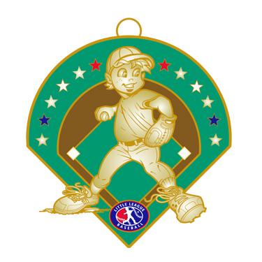"Boy Baseball 2.5"" Medal"
