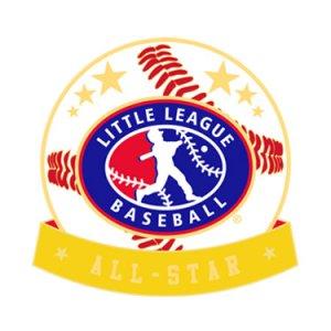 Baseball Little League All-Star Pin