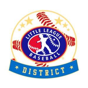 Baseball Little League District Pin