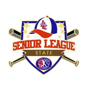 Baseball Senior League State Pin