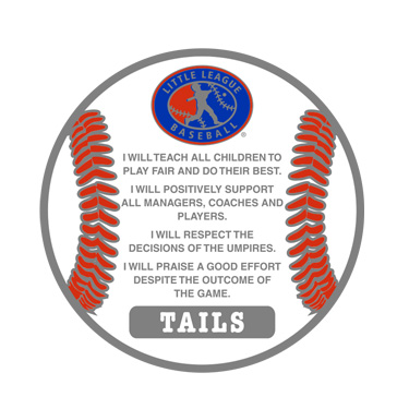 Little League Pledge Flip Coin Tails