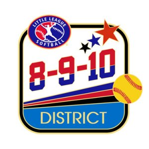 Softball 8-9-10 District Pin