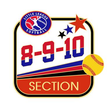 Softball 8-9-10 Section Pin