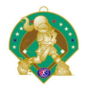 "Girl Softball 2.5"" Medal"