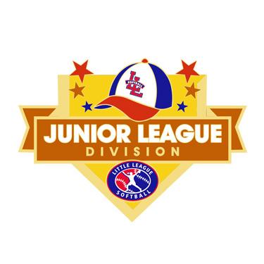 Softball Junior League Division Pin