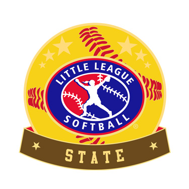 Softball Little League State Pin