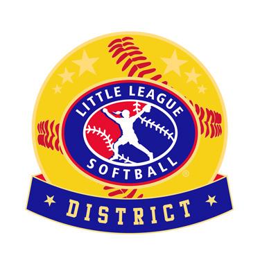 Softball Little League District Pin