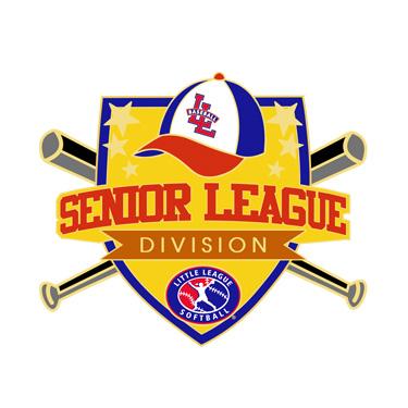 Softball Senior League Division Pin