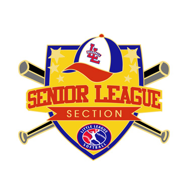 Softball Senior League Section Pin